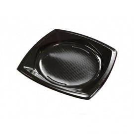 Nupik Platos Plastico Cuadrado Negro Pack 20 unidades