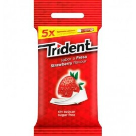 Chicle Trident Stick 5 Units
