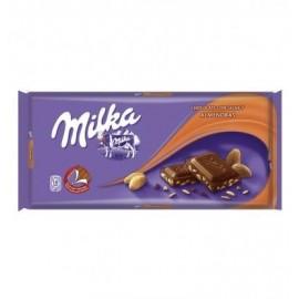 Chocolate Milka Almonds 125 Grs