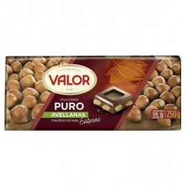 Chocolate Valor Puro Leche Avellanas 250 Gr