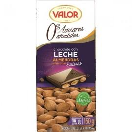 Chocolate Valor Sin azucar Leche-almendra 150 Grs