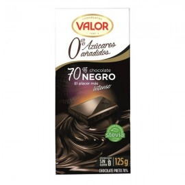 Chocolate Valor Sin azucar Negro 70% 125 Grs