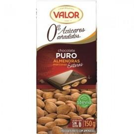 Chocolate Valor Sin azucar Puro Almendra 150 Grs