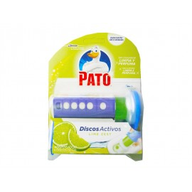 Pato WC Discos Activos WC Lime Zest Dispensador + 6 discos gel