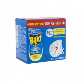 Raid Electric Insecticide Killer Night & Day Flies & Mosquitoes Diffuser + Refill