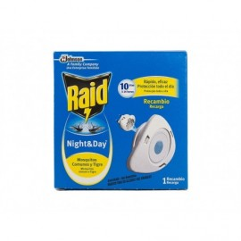 Raid Recambio para Difusor Eléctrico Night&Day Caja 1 Recambio - 10 Días de Protección