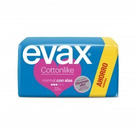 Compresas femeninas Evax Cottonlike Alas Normal 32 Unidades