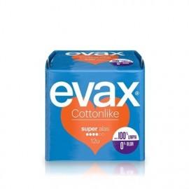 Compresas femeninas Evax Cottonlike Super Alas 12 Unidades