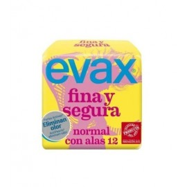 Evax Thin-Sure wings Normal Female pads 12 Units