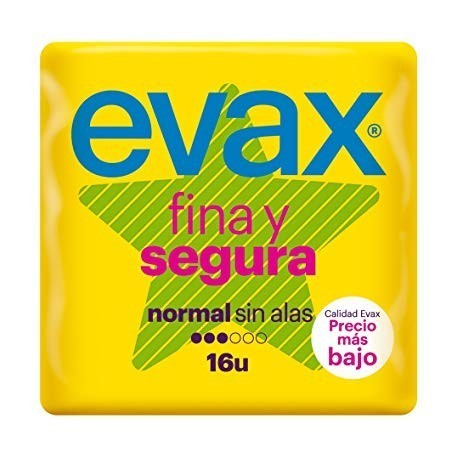 Evax Thin-Sure Normal Female pads 16 Units