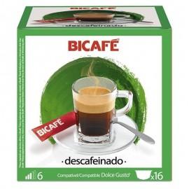 Café BiCafé 16 Capsulas (compatible Dolce Gusto) Descafeinado