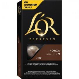 Café L'Or Espresso Forza 10 capsulas Compatible Nespresso