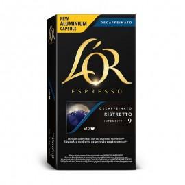 Coffee L'Or Ristreto decaffeinated 10 Compatible capsules Nespresso