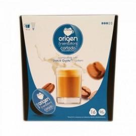 Café Origen 16 Capsulas (compatible Dolce Gusto) Cortado Descafeinado