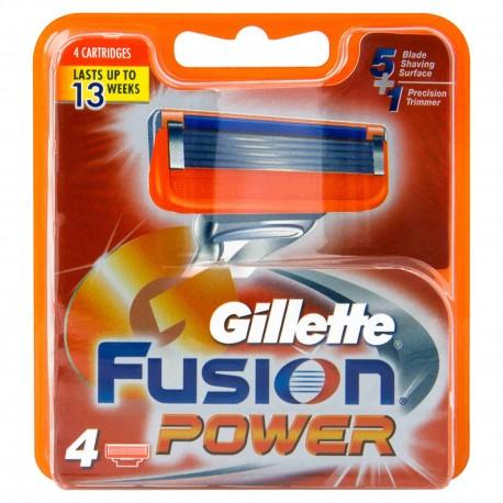 Cargador Gillette Fusion 4 Unidades