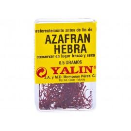Especias Yalin Azafran Pelo Cajita 0.5 Grs