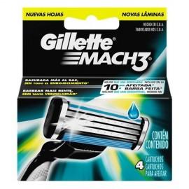 Cargador Gillette Mach-3 4 Unidades