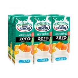 Milk + juice Funciona Max Don Simon Mediteraneo Zero Pack 6 200 Ml