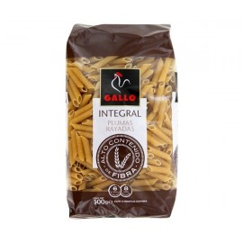 Pasta Gallo whole wheat Pluma Rallada 500 Grs