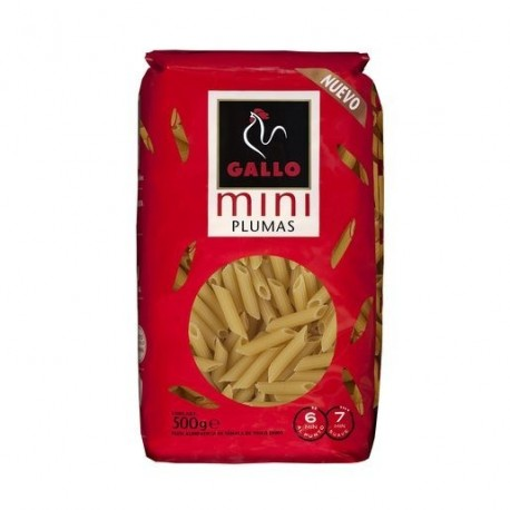 Pasta Gallo Mini Plumas 500 Grs