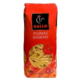 Pasta Gallo Pluma Rayada 500 Grs