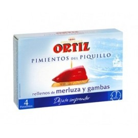 Bell peppers Piquillos Ortiz Stuffed hake 300 Grs