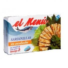Small Sardines El Menu Escabeche 90 Gr