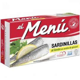 Small Sardines El Menu Lemon 90 Grs