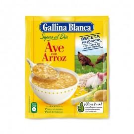 Sopa Gallina blanca Ave Con Arroz