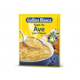 Sopa Gallina blanca Ave Con Fideos