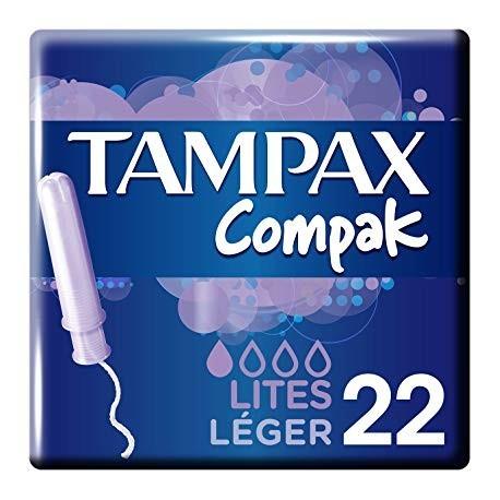 Tampons Tampax Compack Lites 22 Units