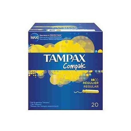Tampax Regular Tampons 20 Units