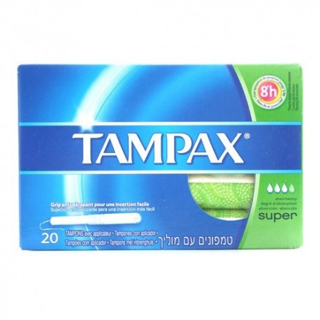 Tampones Tampax Super 20 Unidades