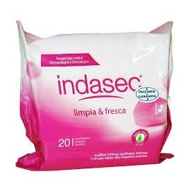 Intimate wipes Indasec 20 Units
