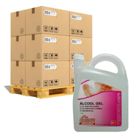 Gel Hidroalcoholico Garrafa 5 Litros GLOW 3 unidades/caja