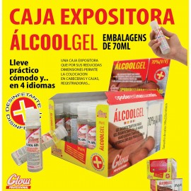 Gel Hidroalcoholico Botella 100 Ml  GLOW 50 unidades/caja
