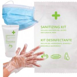 Kit COVID-19 : Gel De Manos Higienizante Botella 20 Ml+ Mascarilla + Guante Nitrilo Made In China ARMONY 200 unidades/caja