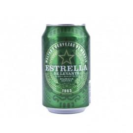 Estrella Levante Cerveza Lata 330ml pack 8