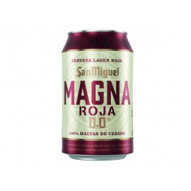 San Miguel Cerveza 0,0% Magna Roja Lata 330ml pack 8