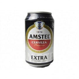 Amstel Cerveza Extra Lata 330ml pack 8