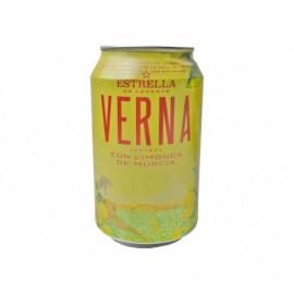 Estrella Levante Cerveza Verna con Limon Lata 330ml pack 8