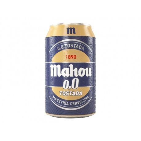 Mahou Cerveza 0,0% Tostada Lata 330ml pack 8
