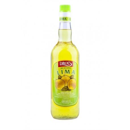 Drol's Licor de Lima Sin Alcohol Botella 1l