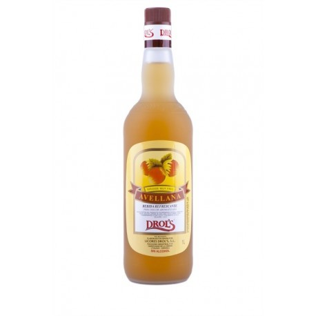 Drol's Licor de Avellana Sin Alcohol Botella 1l