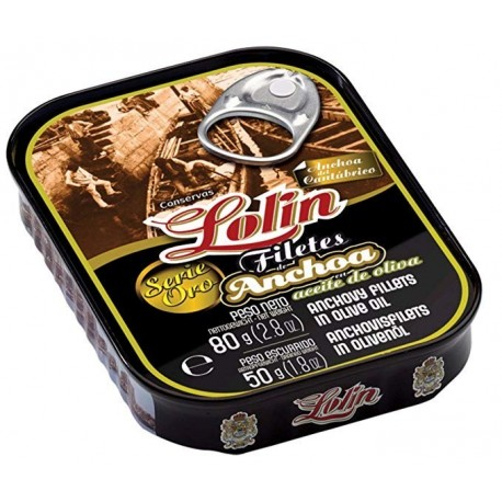 Anchoas Lolin 125 Grs Aceite Oliva