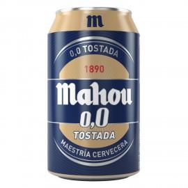 Cerveza Mahou 0,0% Tostada 33 Cl pack 8