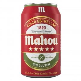 Cerveza Mahou 5 Estrellas Sin Gluten pack 8
