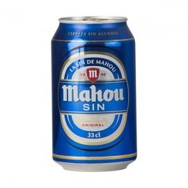 Cerveza Mahou Sin Alcohol 33  Cl pack 8