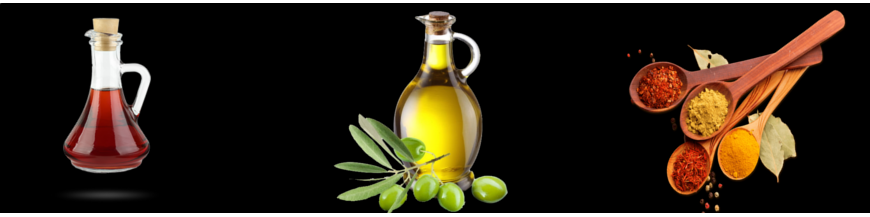 Oils, Vinegars and Spices